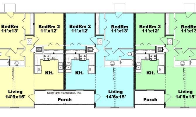 Triplex House Plans