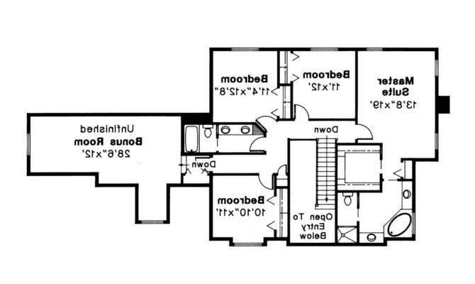 Tudor House Plan Livingston Floor