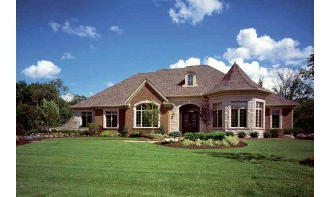 Turret House Plans Eplans French Country Plan Charming
