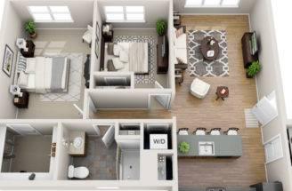 Two Bedroom Floor Plan Zero Village