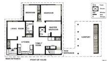 Two Bedroom House Plans Small