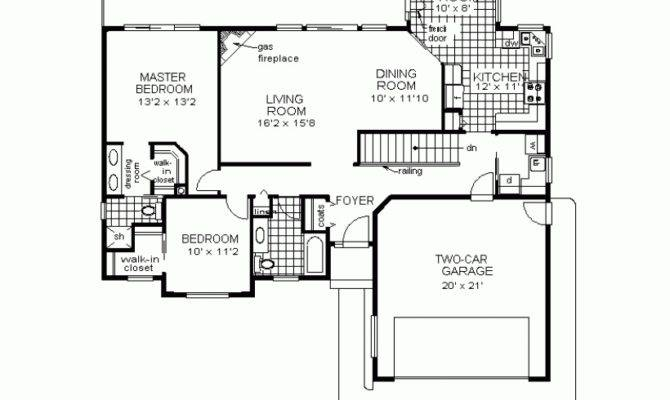 Two Bedrooms House Plans Small Home Awesome Bedroom