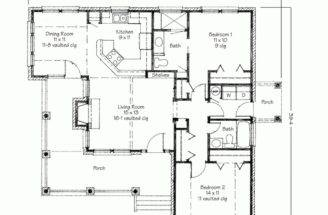 Two Bedrooms House Plans Small Home Contemporary Bedroom