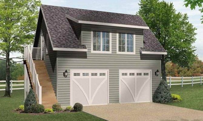 Two Car Garage Plans Apartment