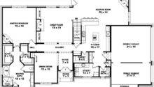Two Story Bedroom Bath French Style House Plan Plans