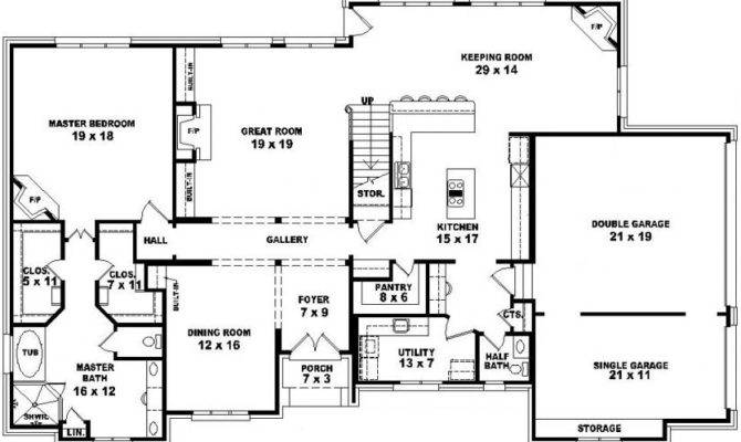 Two Story Bedroom House Plans