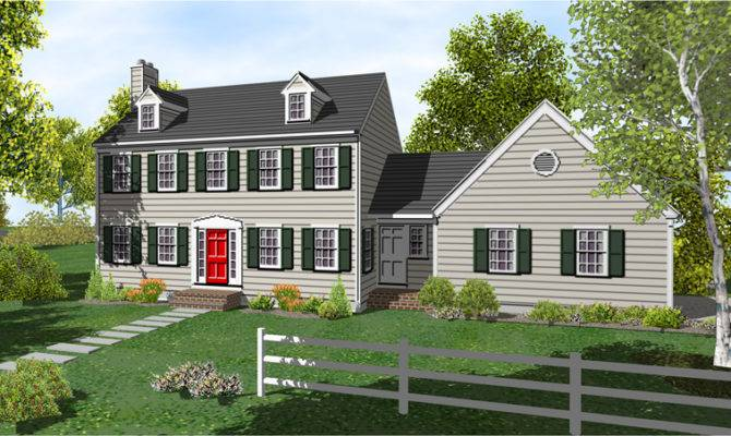 Two Story Colonial Home Plans Sale Original
