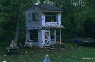 Two Story Playhouse Swingset Attached Stories Playhouses
