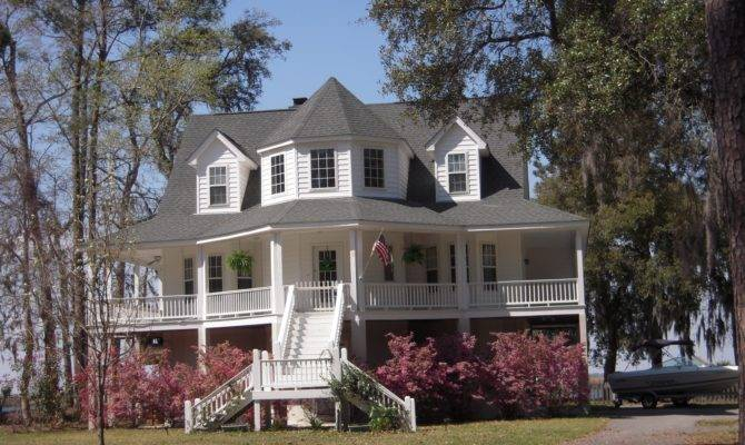 Typical Southern Style Wrap Around Porch Home