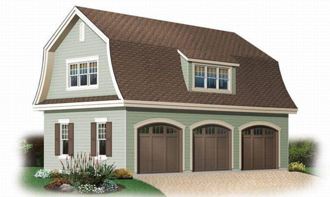 Unique Garage Plans Car Plan Gambrel Roof