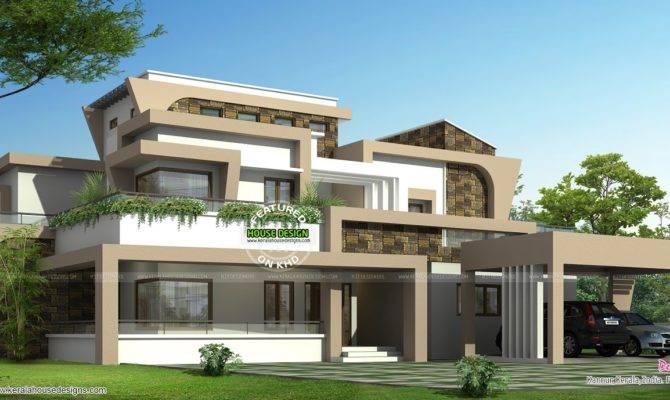 Unique Modern Home Design Kerala Floor