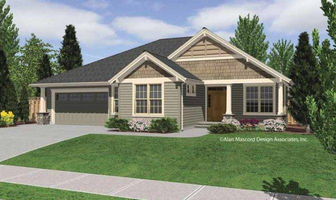 Vaulted Single Story Plan Open Great Room