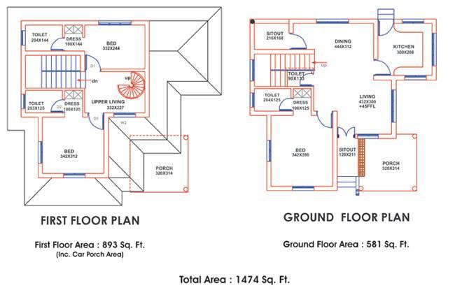 Veedu Plans Ente Home Plans Blueprints 76599