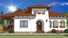 Verandah House Plans Neo Romanian Style