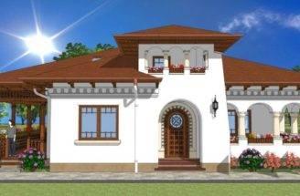 Verandah House Plans Neo Romanian Style