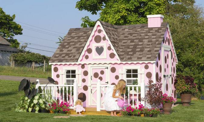Victorian Childrens Wood Playhouse Kit Floor Little Cottage