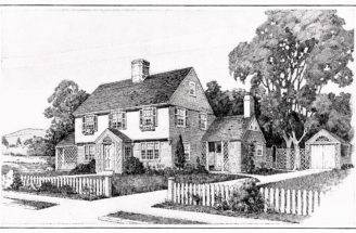 Vintage House Plans Old Fashioned Home Antique Clipart Black