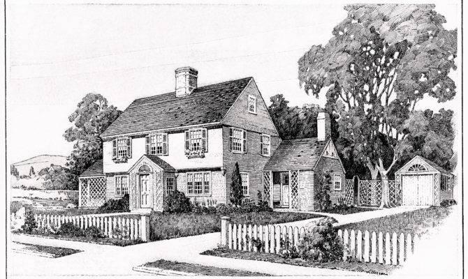 Vintage House Plans Old Fashioned Home Antique Clipart Black