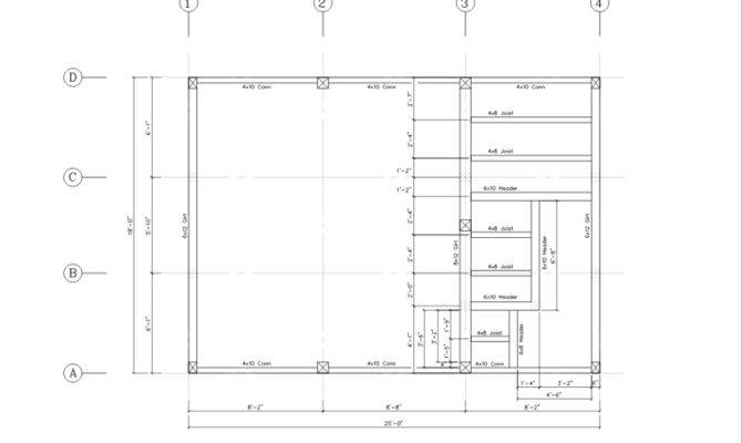 Walt Whitman Second Floor Framing Plan