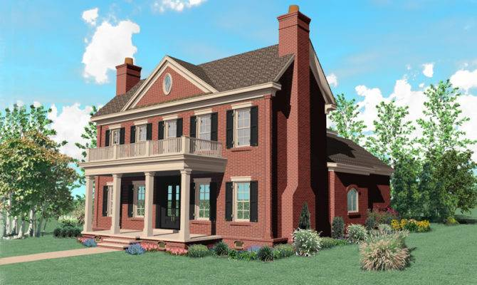 Warson Hill Georgian Brick Home Plan House Plans More