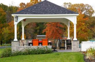 Way Get Perfect Backyard Pavilion Designs Common Design