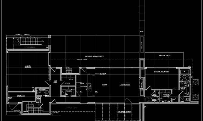Weekend House Lower Level Plan