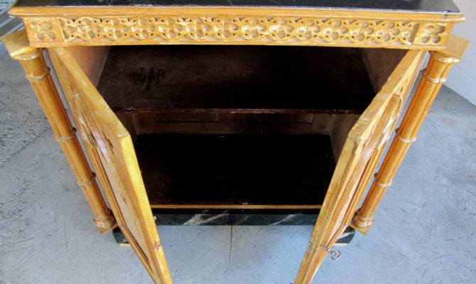 Whimsical English Gothic Revival Two Door Pine Cabinet Stdibs