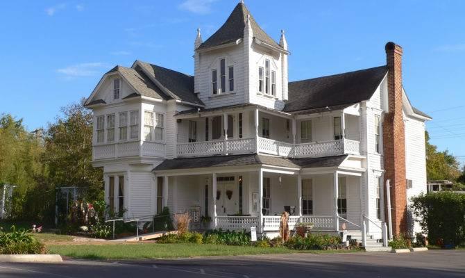 White Houses Porches Back Front Porch House Plans