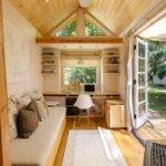 Woman Living Simply Off Grid Tiny Home Wheels