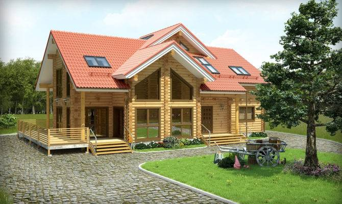 Wood House Plans Home Design Brick