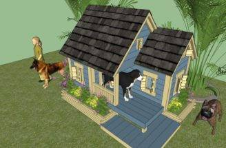 Wood Project Ideas Easy Build Dog House Plans