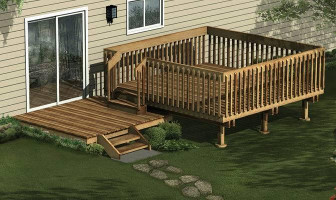 Woodwork Multi Level Deck Plans Pdf