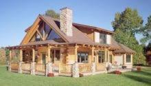 Wrap Around Porch Log House Home Pinterest