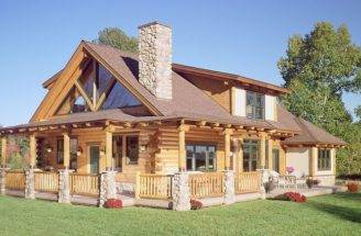 Wrap Around Porch Log House Home Pinterest