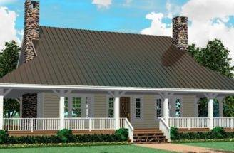 Wrap Around Porch Open Floor Plan House Plans Home