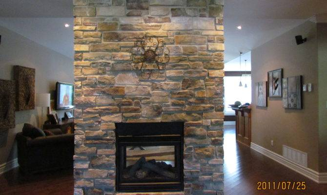 Added Elegance Double Sided Fireplace Rick Minnings Cultured