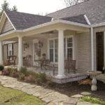 Adding Front Porch Ranch House Home Design Ideas