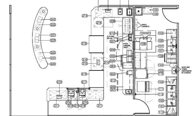 Admin Commercial Bar Design Layout