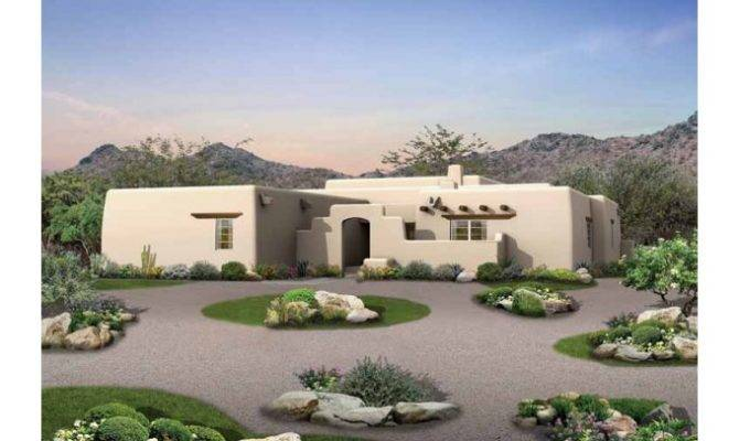 Adobe House Plans Courtyard Eplans Plan Old Style