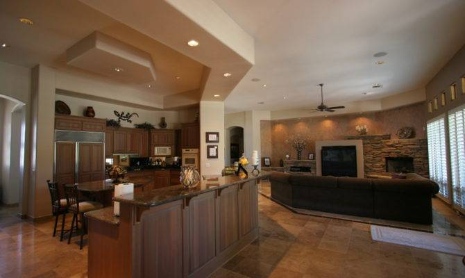 Adorable Open Floor Plan Kitchen Living Room Design