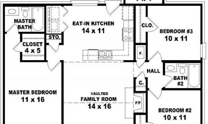 Affordable Bedroom Bath House Plan Design