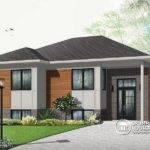 Affordable Split Modern Bungalow House Plan Open Floor