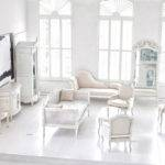 Airy Living Room White Beighe Style