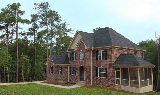 All Brick Two Story Home Apex Builders Stanton Homes