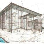 Amazing Architecture Design House Drawing Sketch
