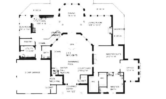 Amazing Indoor Pool House Plans Great Lighting