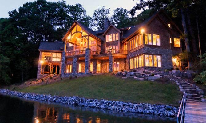 Amazing Luxury Lake House Plans Design Decoration