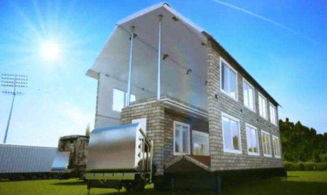 Amazing Mobile Home Transforms Into Fill House