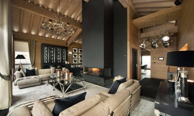 Amazing Modern Living Room Part Inspiring Chalet Interior
