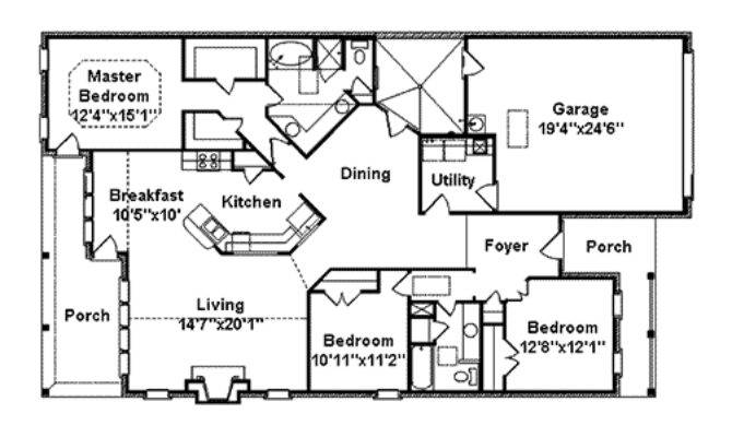 Amberdale Lake Narrow Lot Home Plan House